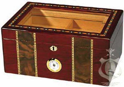 The Pompeii Inlay Glass Top Cigar Humidor