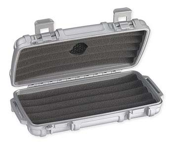 Cigar Caddy 3400 Silver Matte 5 Cigar Travel Humidor