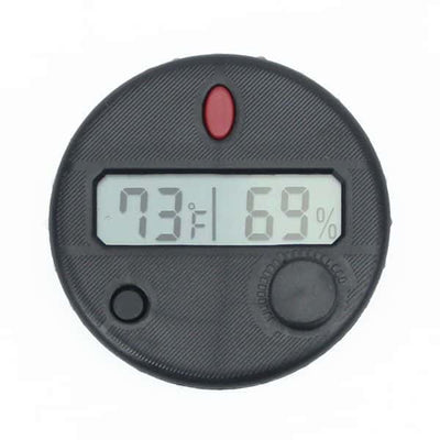 HygroSet Front Mount Super Accurate Round Digital Hygrometer