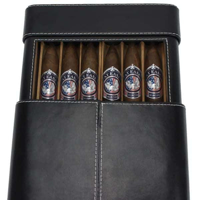 Six Cigar Leather Travel Case