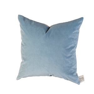 Sawyer Velvet Cushion Celeste Blue