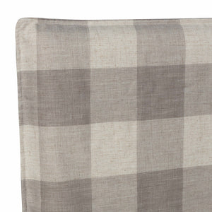 Darcy Bedhead Slip Cover Plaid Fog KING SINGLE (COVER ONLY)