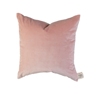 Sawyer Velvet Cushion Blush Pink