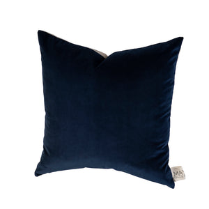 Sawyer Velvet Cushion Navy Blue