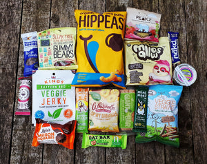 No subscription needed- Thinking big- your monthly snacks all boxed up ready for you. Vegan snacking we have got you covered !