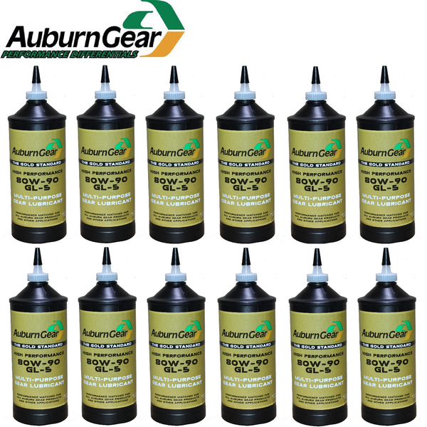 504108 Auburn High Performance Differential Gear Oil 80W-90 GL-5 12-Quart Case
