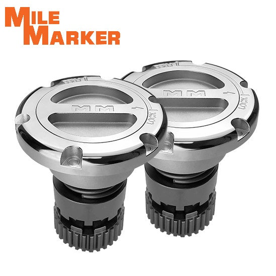 549 Mile Marker Locking Hub Set 2005-2019 Ford SuperDuty
