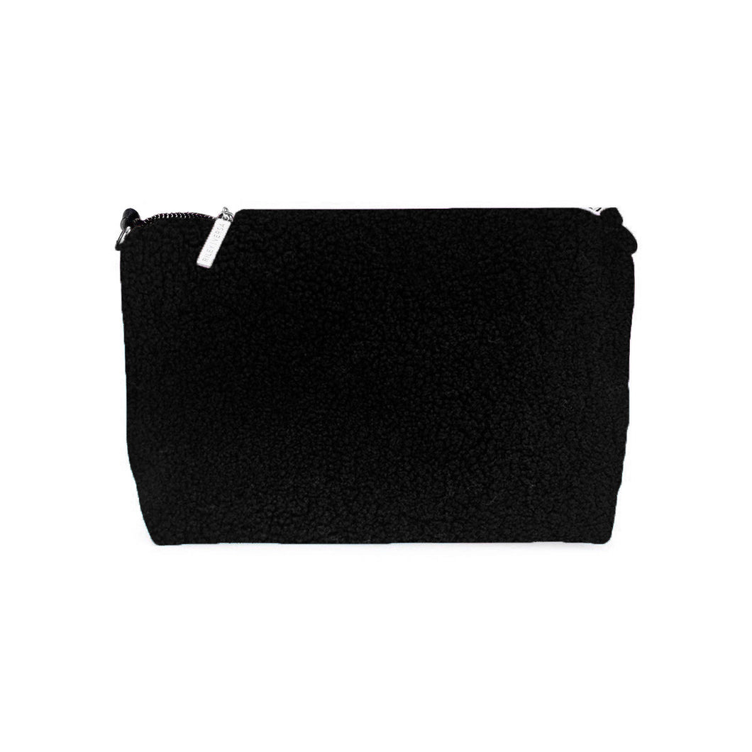 Black Sheep Shearling Pouch