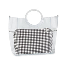 Load image into Gallery viewer, Black Gingham Pouch
