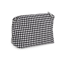Load image into Gallery viewer, Black Gingham Canvas Pouch