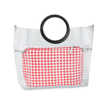 Load image into Gallery viewer, Red Gingham Pouch