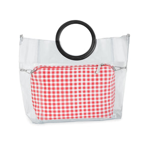 Red Gingham Pouch