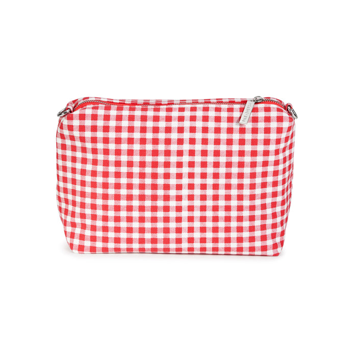 Red Gingham Canvas Pouch