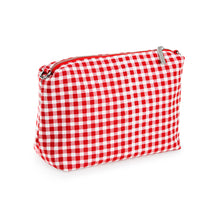 Load image into Gallery viewer, Red Gingham Canvas Pouch