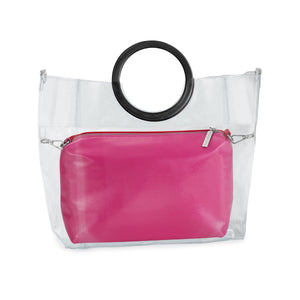 Two-Tone Patent Leather Pouch