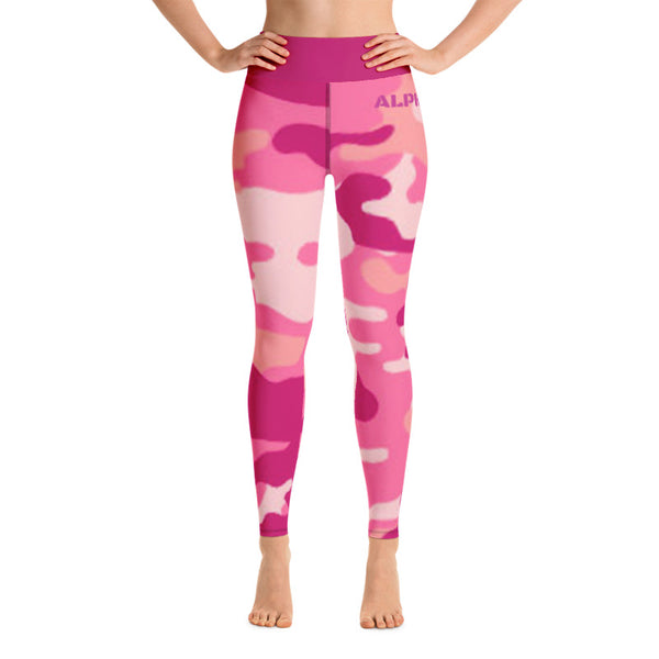 CAMO RAISED LEGGINGS (PINK)