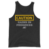 CAUTION GAINS BUILT TANK