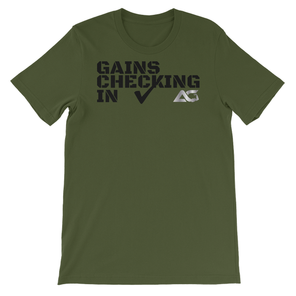 Alpha Jersey Tee - Gains Checking In Tee