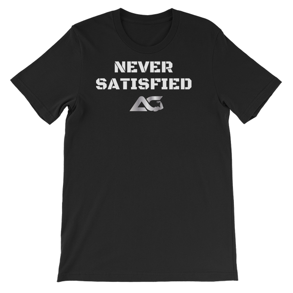 ALPHA FITTED TEES - NEVER SATISFIED TEE
