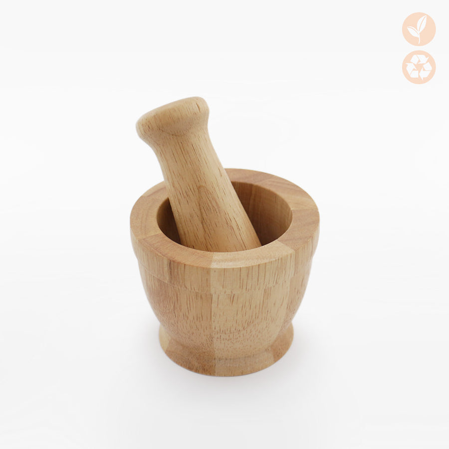Wood Pestle And Mortar