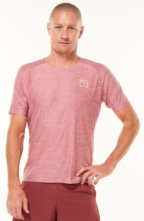 Men's Cool It Tee. Red workout shirt. Technical shirt for running.