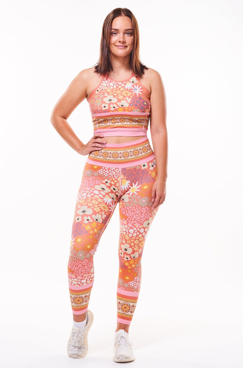 MALO on the run 7/8 tights - flower child blush
