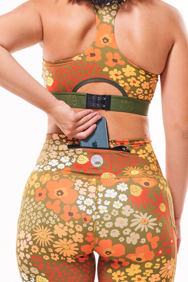MALO little bit longer shorts - flower child ochre