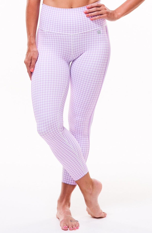 MALO on the run 7/8 tights - lavender gingham