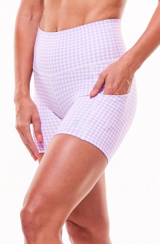MALO little bit longer shorts - lavender gingham