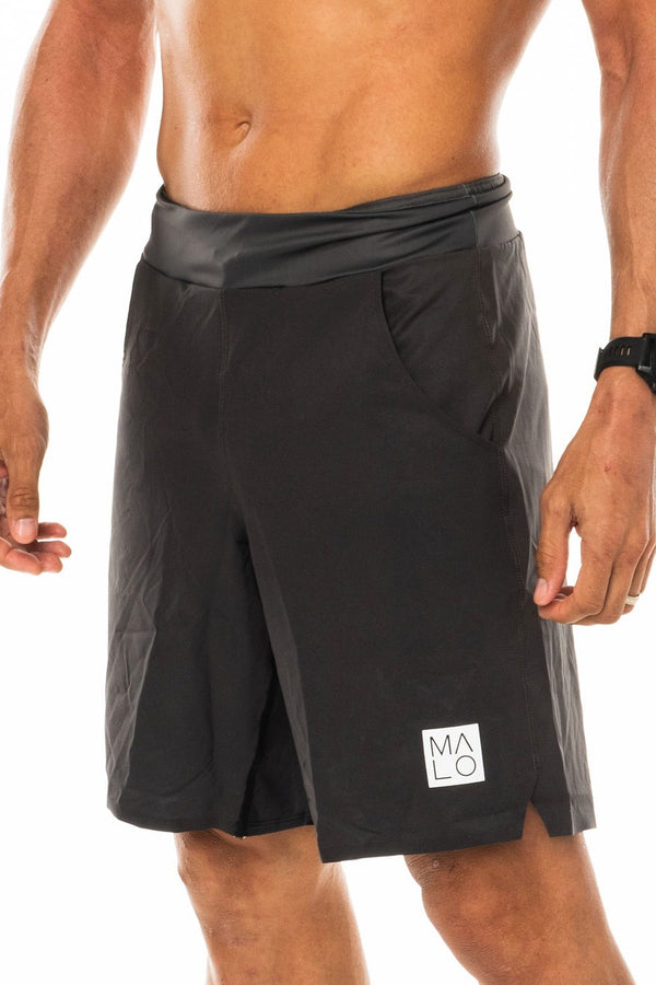 Men's Slate Arvo Shorts. Grey shorts with 9.5 inseam. Unlined shorts.