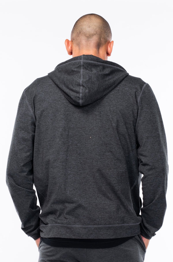men's ultimate travel hoodie - slate heather