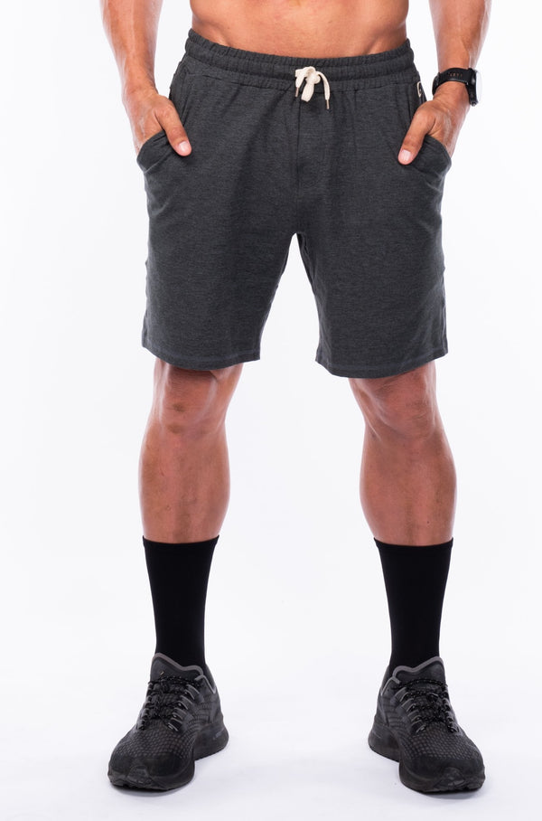 men's limitless jogger short - slate heather