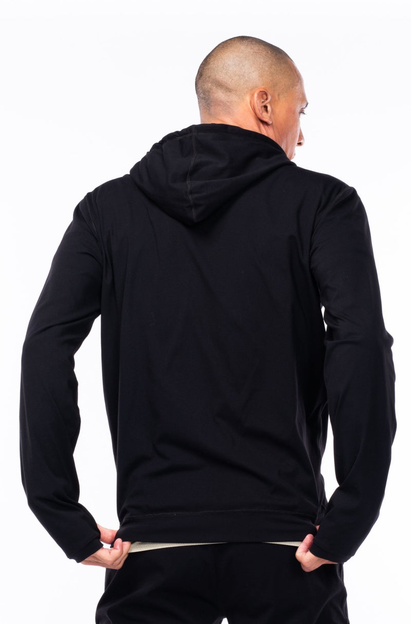 men's ultimate travel hoodie - black