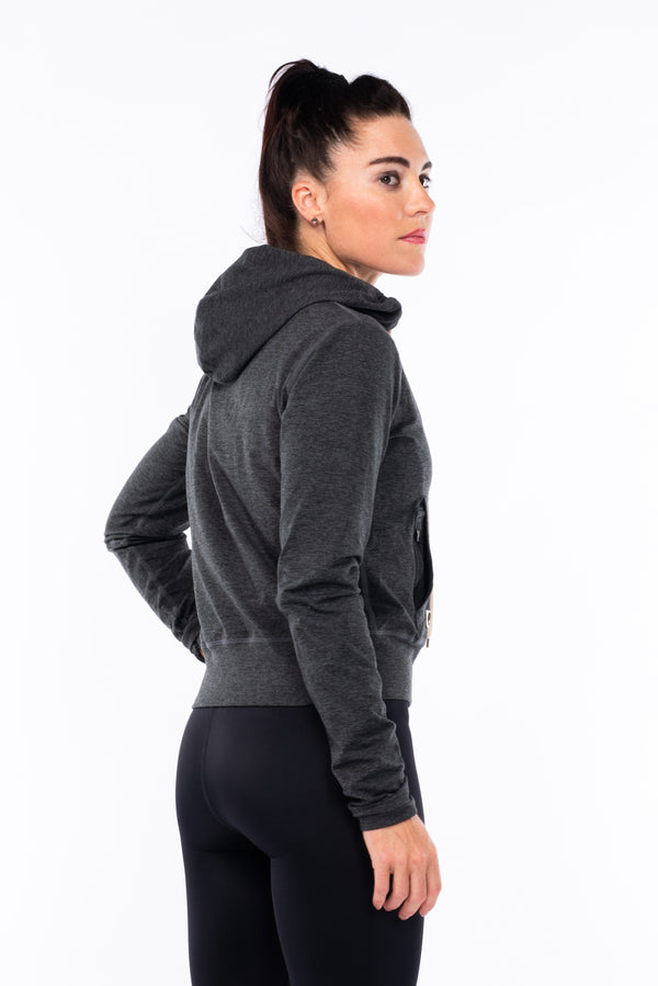women's ultimate travel hoodie - slate heather