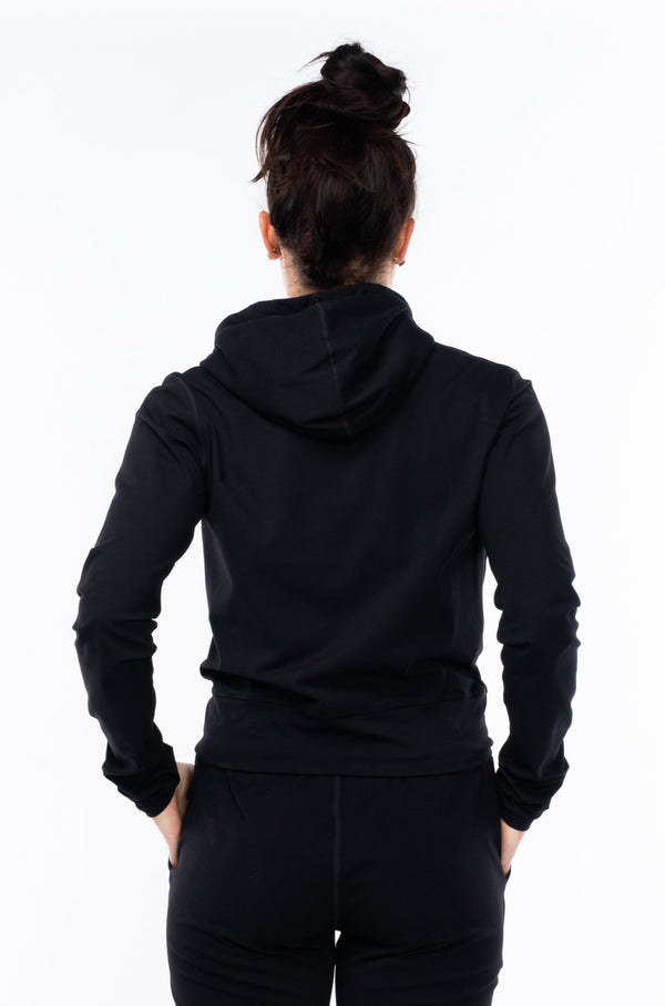 women's ultimate travel hoodie - black