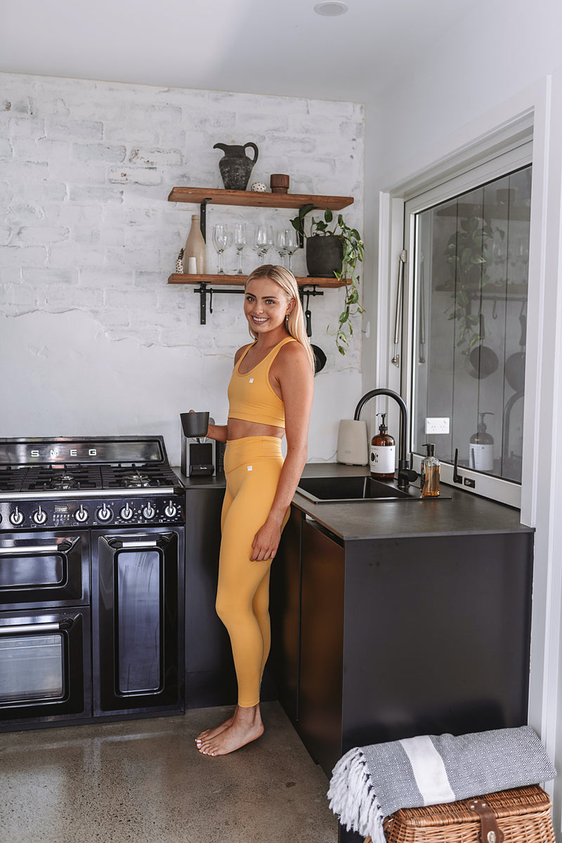 MALO EcoSuede live-in leggings - goldenrod