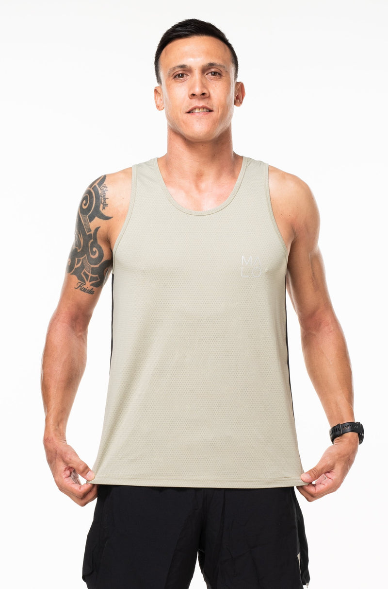 MALO hastings performance tank - sand/black