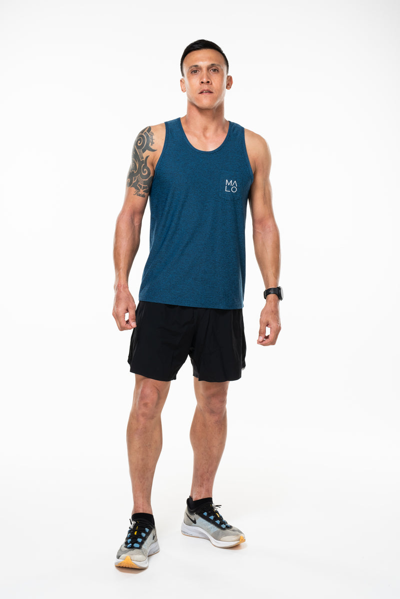MALO north shore performance tank - cobalt