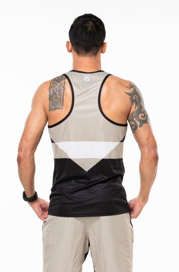 MALO hollett performance tank - sand/black