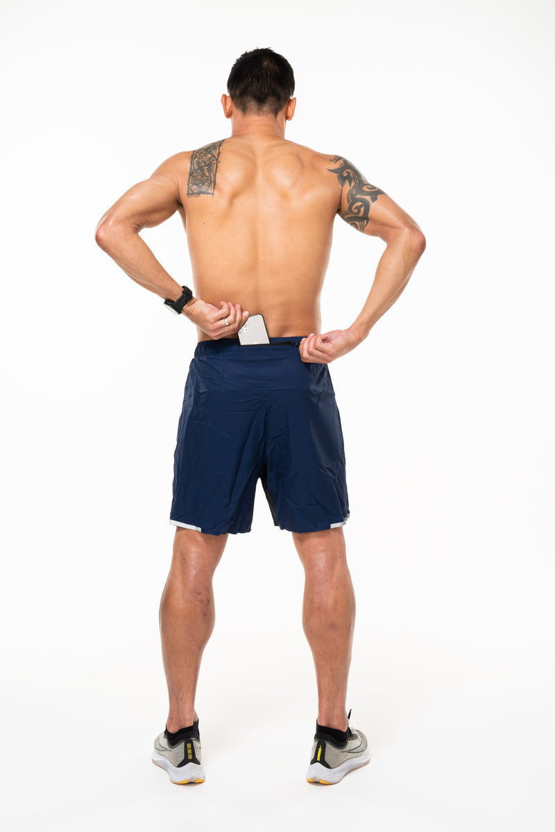 "MALO noosa 2.0 run short (7"") - navy"