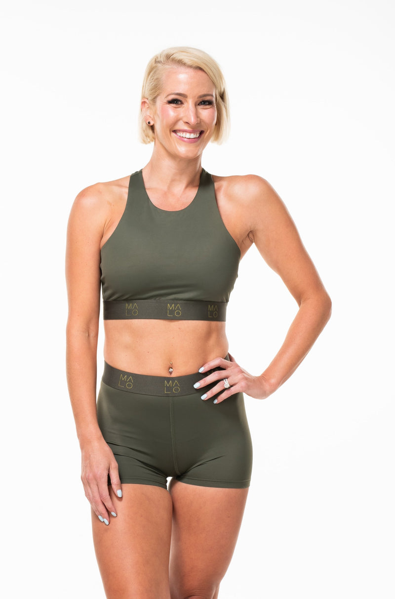 MALO EcoActive pillar bra - seagrass