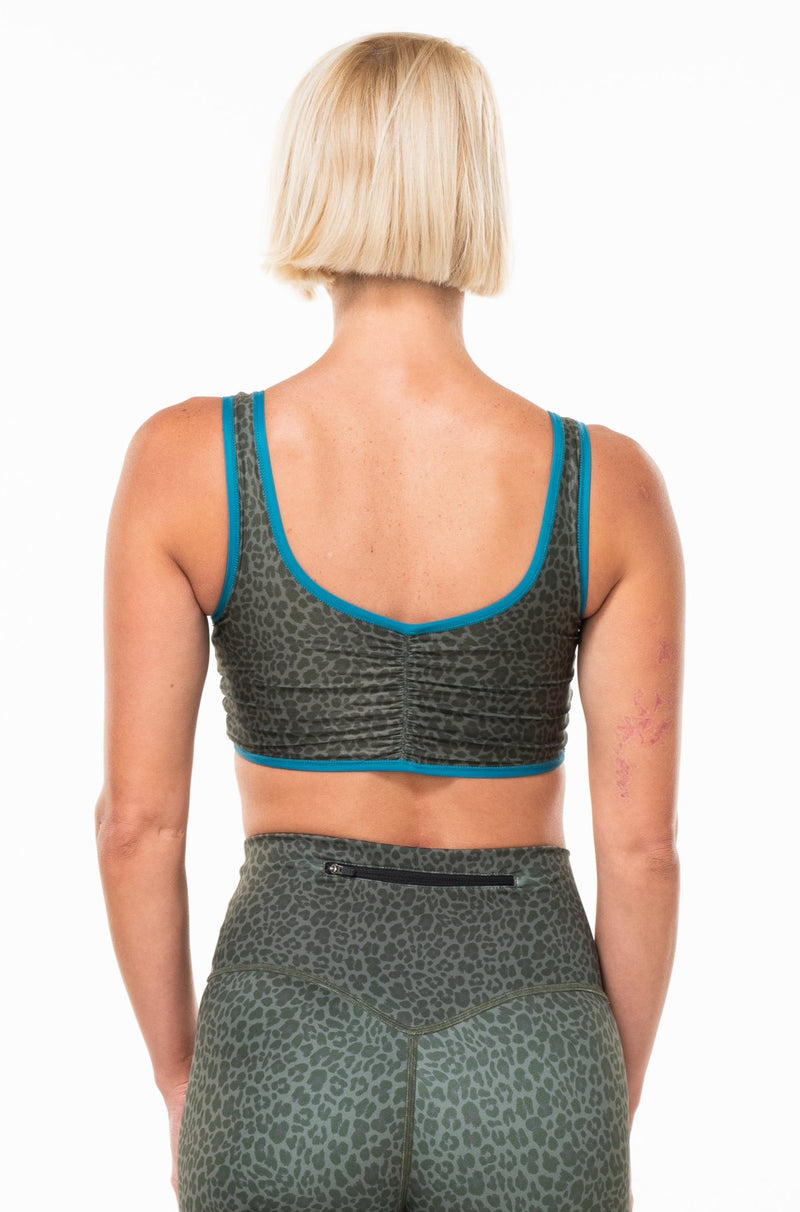 MALO EcoActive reversible bralette - seagrass/tidepool/panther