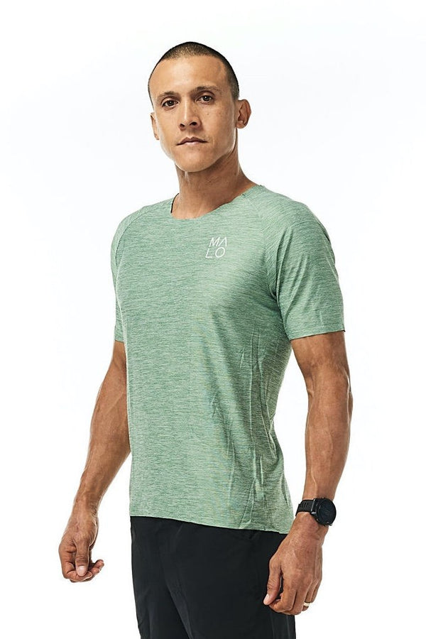 Men's Cool It Tee - Sagebrush. Green workout shirt. Performance shirt for running.