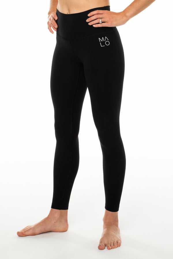 Black Hi Rise Luxe Leggings. Black high-waisted leggings. Athleisure leggings.