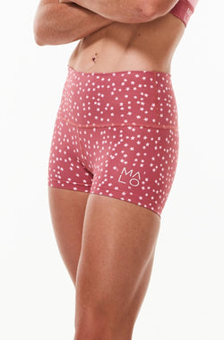 Right view Women's Nantucket Bloom PR Shorts. Pink short shorts for running, yoga, gym, and casual wear.
