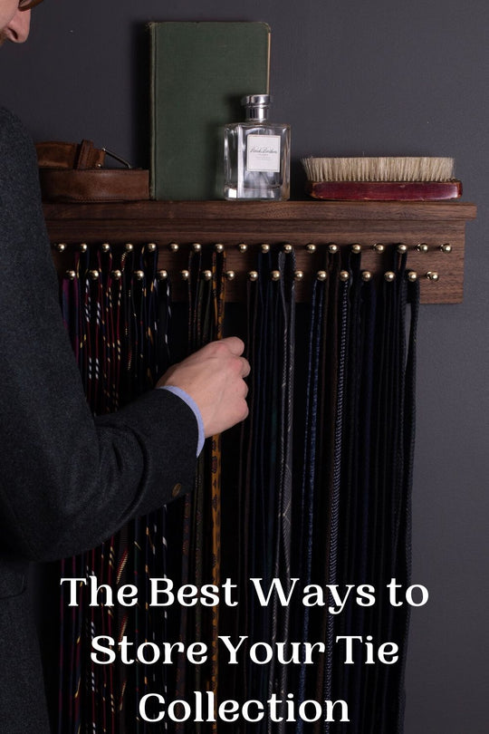 The best ways to store your tie collection