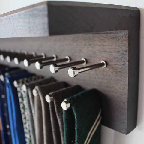Custom Tie Rack with new pegs