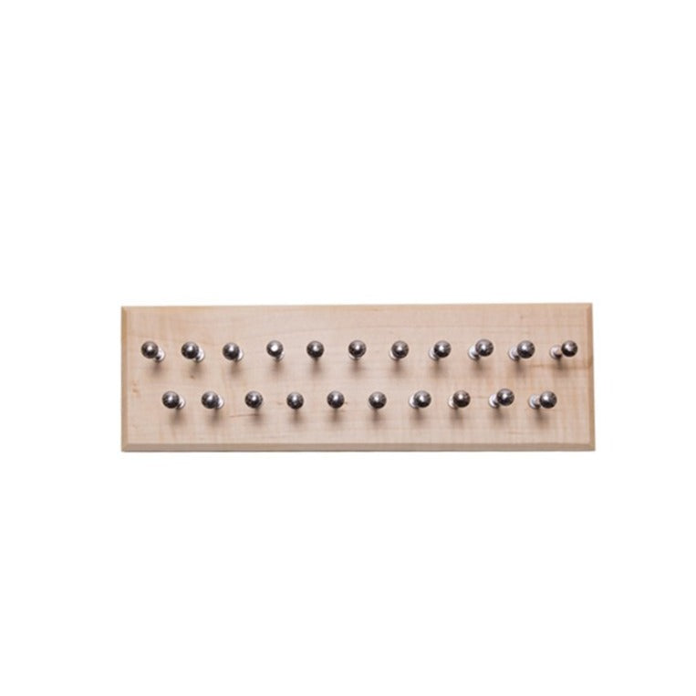Small Maple Tie Rack with 21 pegs 12