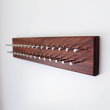 Custom Bolivian Rosewood Tie Rack with stainless pegs