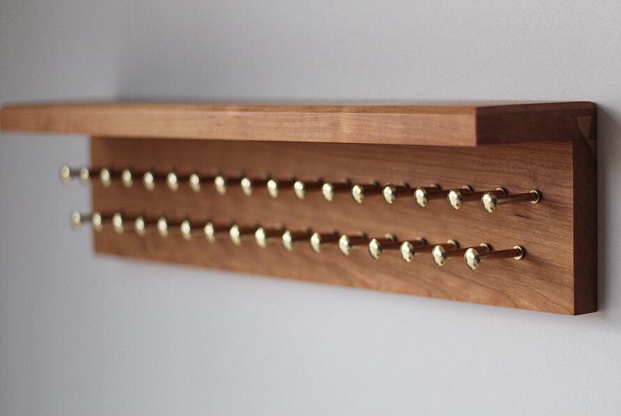 Custom Tie Rack - Dapper Woodworks